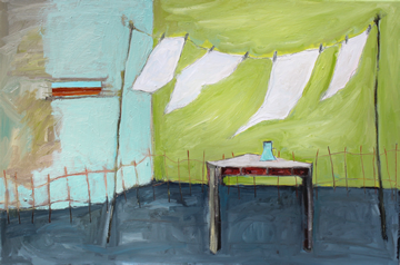 Domestic Chores In Rooms Without Windows Discarded Furniture In Forgotten Rooms Oil On Canvas