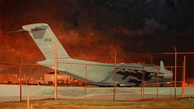 Scott-Waters,-Mile-Kilometer-Zero,-2012,-oil-on-canvas,-48-x-72-inches-