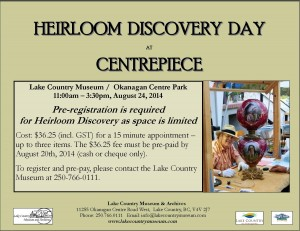 2014 ad, Heirloom Discovery Day only