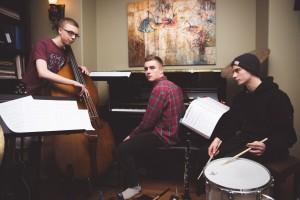 Bjorn Kriel Trio - L to R Alex Argatoff, Bjorn Kriel, Jason Martin